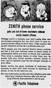 Zenith phone service