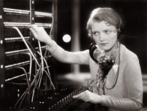 transatlantic telephone woman