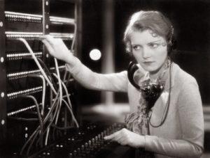 transatlantic telephone woman